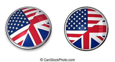 Banner Button United States, United Kingdom - button style...