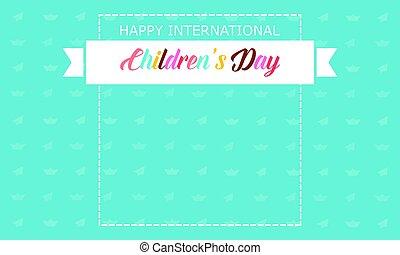 Banner children day style background