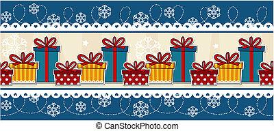 banner christmas gift boxes
