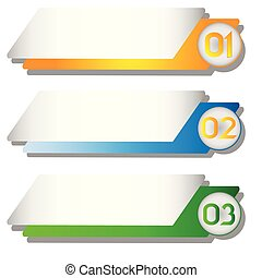 Banner Colorful Tag Vector Image