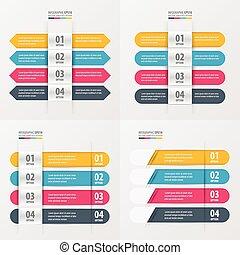 Banner Design 4 color set