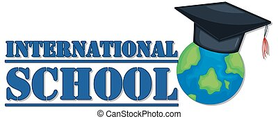 Banner design for international school
