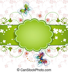 Banner design for St. Patrick's Day card