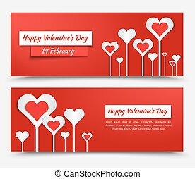Banner design for Valentine's Day