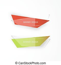 Banner design. Set of three realistic abstract transparent banners. Abstract transparent.