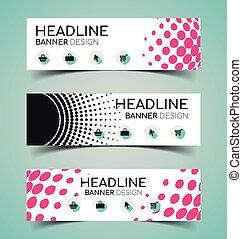 Banner Design Set.