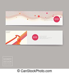banner design templates set with dynamic wave