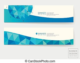 Elegant letterhead design template with blue and gray geometric shapes banner design with geometric blue crystal elements spiritdancerdesigns Image collections