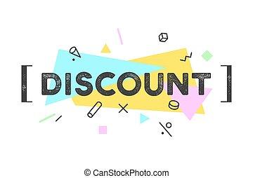 Banner Discount, speech bubble