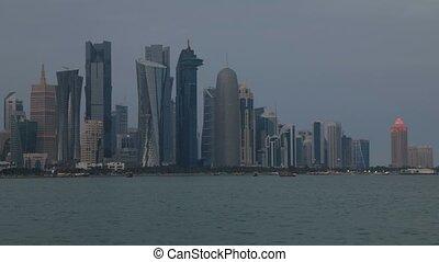 Banner Doha skyline night