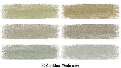 banner, erde, grunge, verblichen, satz, grau, neutral