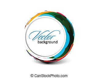 banner, farverig, cirkel, abstrakt
