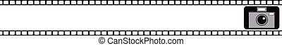 banner., film macchina fotografica