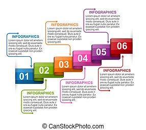 banner., firma, infographics, præsentationer, information, skabelon, ribbons., eller