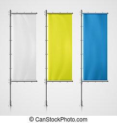 Banner Flag - Set banner flag, eps 10