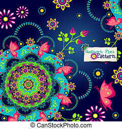 Banner floral seamless
