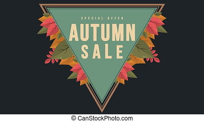 Banner for Autumn sale animation style