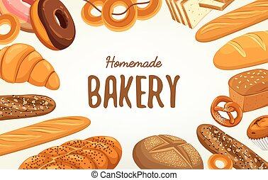 Banner for pastry and bakery, food and nutrition