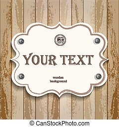 banner for text on a wooden background