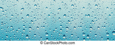 banner for website Water drop on the glass of windows background, raining on the glass off window city for background.