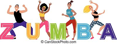 Banner for zumba group class