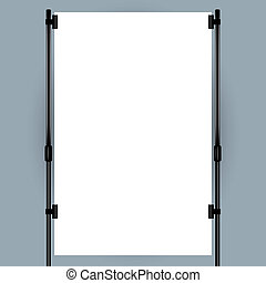 banner, fremvisning, blank