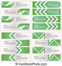 banner green color design pack