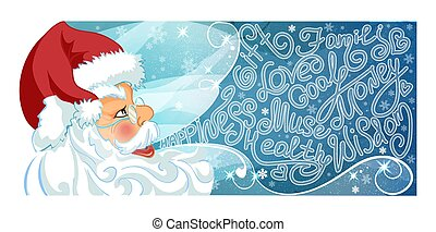 Santa Claus with wishes