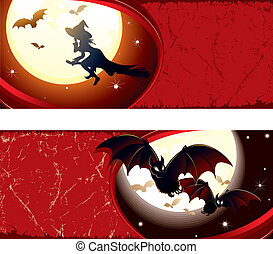 banner, halloween