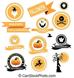 Banner halloween vector