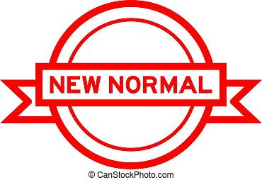 banner, hintergrundfarbe, rotes , neu , wort, etikett, weißes, runder , weinlese, normal