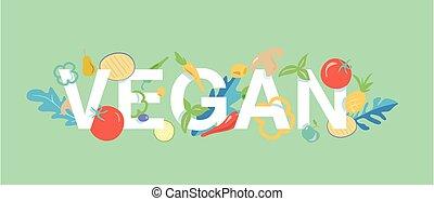 banner, ikone, tamplate, vegan-essen