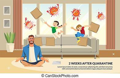 Banner Illustration 2 Weeks After Quarantine.