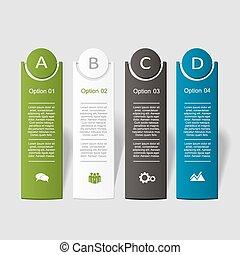 Banner infographic design template. Vector illustration