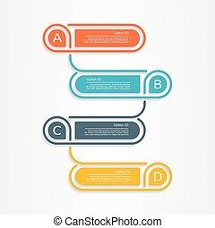 Banner infographic design template. Vector illustration.