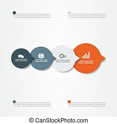 Banner infographic design template. Vector illustration