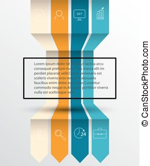 banner., information, options, espace, ton, template., eps10, infographic, flèche