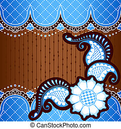 Banner inspired by Indian designs