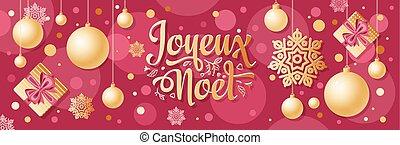 banner., joyeux, noel, navidad, navidad, noel., design., ...