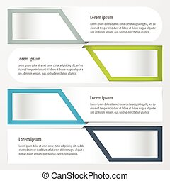 banner layout Green, blue, gray color