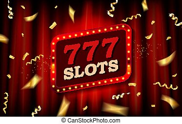 Banner Lucky seven on slot machine.