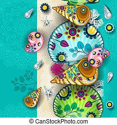 Banner marine floral seamless - Banner floral seamless...