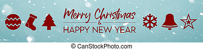Banner - Merry Christmas and Happy new year