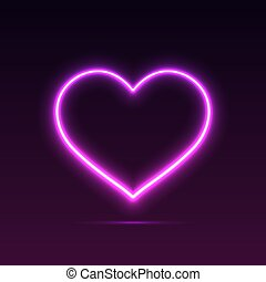 Banner Neon Heart