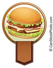 Banner of a hamburger