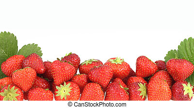 Banner of fresh ripe strawberries