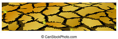banner of land during the drought with some islands with ...