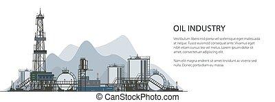 Banner Oil Drilling Rig - Oil Drilling Rig Banner, Oilfield...