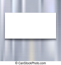 Banner on metal texture background