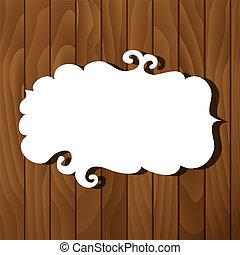 Banner on wooden background